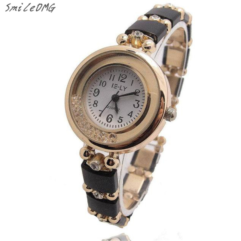 SmileOMG Hot Fashion Women Crystal Rhinestone Stainless Ceramic Analog Quartz Wrist Watch Christmas Gift Free Shipping ,Sep 15 smileomg hot sale new fashion women crystal stainless steel analog quartz wrist watch bracelet free shipping sep 2