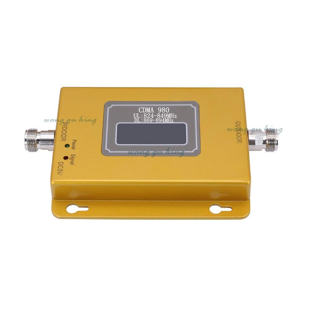 70dB LTE UMTS GSM CDMA 850 MHz 2G 3G 4G sans fil téléphone portable répéteur Signal Booster amplificateur répéteur de Signal + câble + antenne - 3