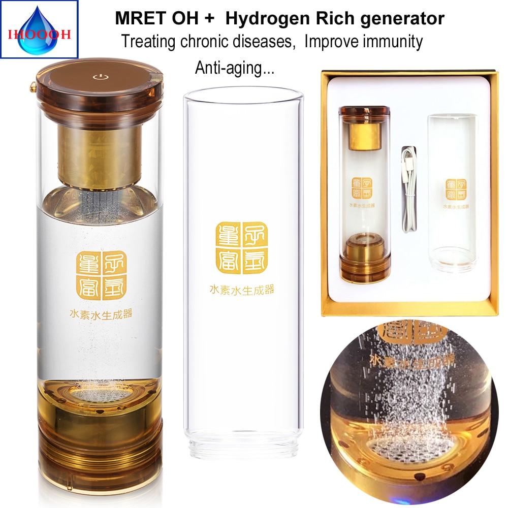 Hydrogen water generator bottle add MRET OH 7 8Hz Helping treat Hypertension Hyperglycemia Hyperlipidemia Diabetes in Water Filters from Home Appliances