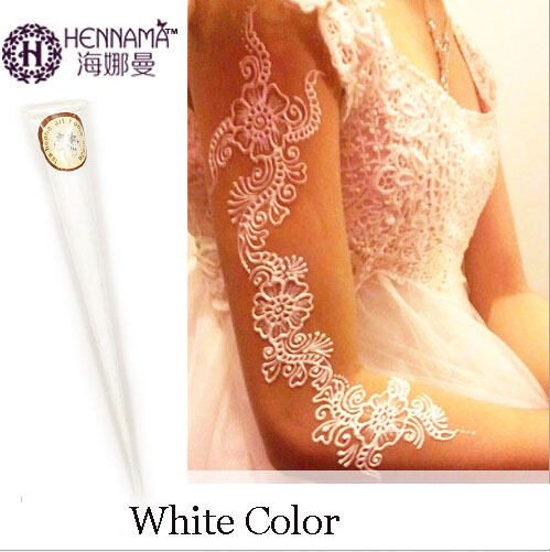 India HENNA tattoos paste for women lady bride party professional white mehndi cream hand-painted pen for body nail halloween party zombie skull skeleton hand bone claw hairpin punk hair clip for women girl hair accessories headwear 1 pcs