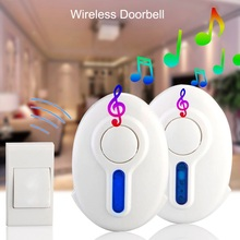 Durable Creative High Quality LED Indicator 100M Range Home Security Hot Gate Alarm Door Bell Wirele