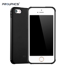 Prouphcs For iPhone 5S Case Soft Silicone TPU Cover Case for iPhone SE 5S 5G Full Protective Shockproof Phone Case