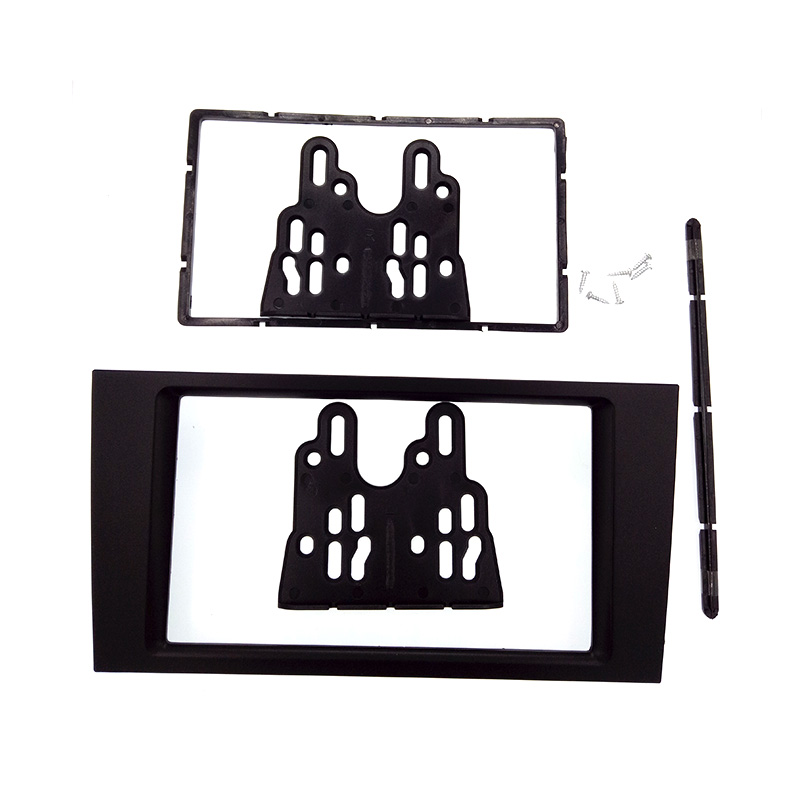 Good DOUBLE DIN Car Radio Fascia for Audi A6 2002-2006 stereo facia frame panel dash mount kit adapter trim Bezel facia car radio fascia facia panel adapter for hyundai elantra md avante md 2014