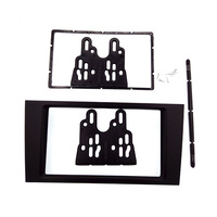 Good DOUBLE DIN Car Radio Fascia for Audi A6 2002 2006 stereo facia frame panel dash mount kit adapter trim Bezel facia