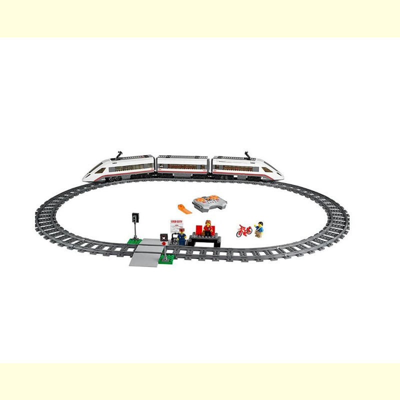 02010 City Creator Series the High speed Passenger Train Remote control RC Rail Train Set Building Blocks Bricks 60051 lepin 02010 610pcs city series building blocks rc high speed passenger train education bricks toys for children christmas gifts
