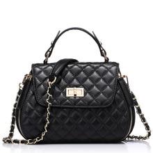 UniCalling brand women leather bag new European and American style sheepskin genuine leather diamond lattice handbag famale bag