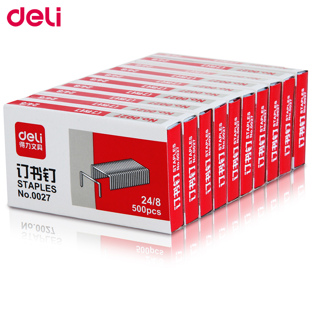 Deli 24/8 500 Pcs Per Box Staples For Stapler Paper Binding Stationary 2 Set