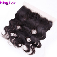 Bling Hair Lace Frontal Closure Brazilian Hair Body Wave 13x4 Free Part Human Hair Closure With