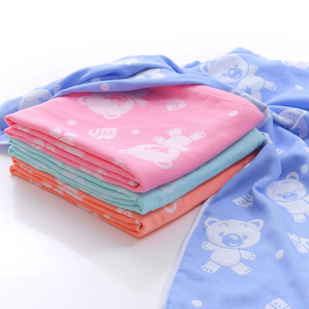 Dziecko bath towel gazy bawełnianej muślinu dziecko towel newborn cotton towel towel absorbingtowels miękkie myjka kreskówki dla dzieci 110*110 cm 16