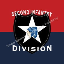 6481c6a9 US Army Second Infantry Division 2nd Flag 3ft X 5ft Polyester Banner Flying  150* 90cm