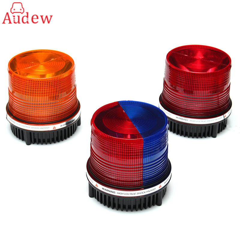 1Pcs LED Car Emergency Warning  Light  Flashing Strobe Light for Truck Boat Car 1pcs car emergency warning hazard light led flashing beacon strobe light for truck boat car