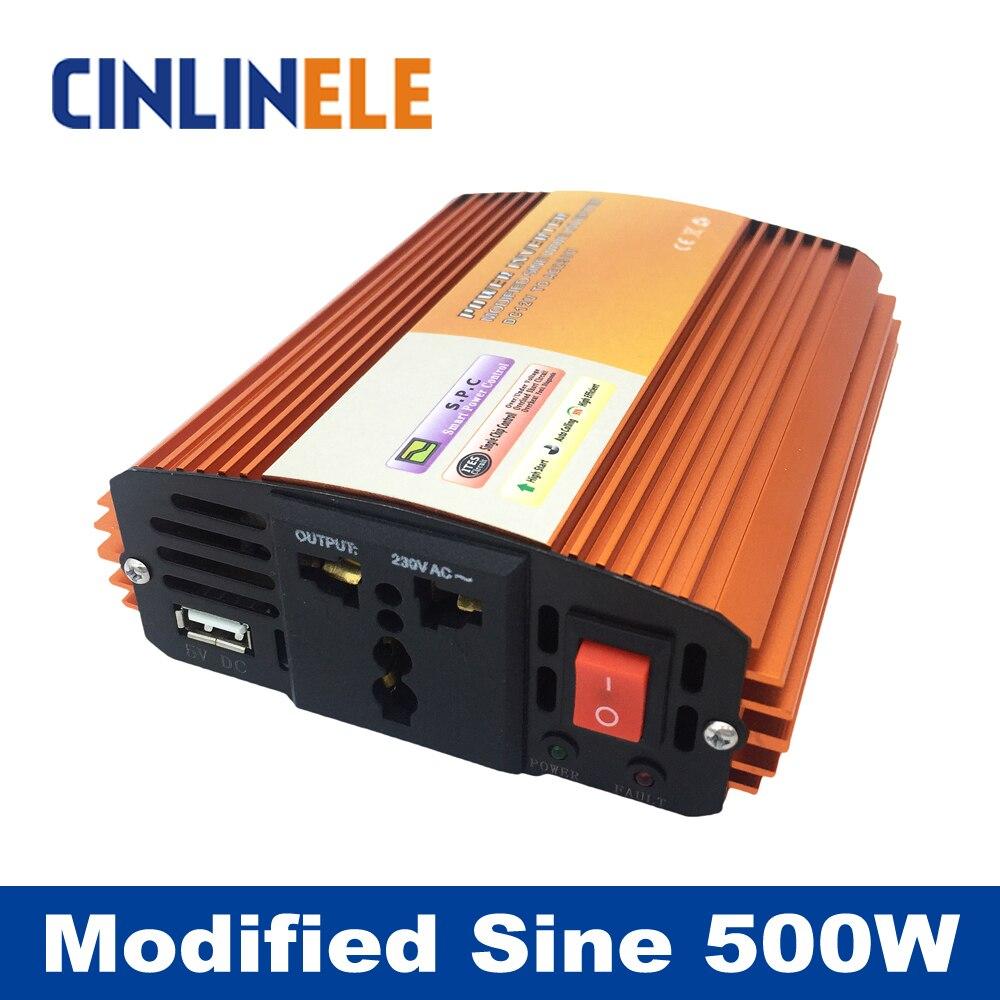 Modified Sine Wave Inverter 500W CLM500A DC 12V 24V 48V to AC 110V 220V  500W Surge Power 1000W Power Inverter 12V 110V Bright  цены