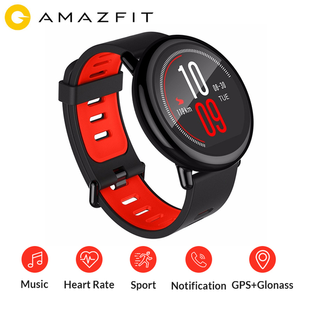 Original Xiaomi Huami AMAZFIT Watch Pace Bluetooth 4.0 Sports Smart Strap Ceramic Smartwatch Heart Rate Monitor ENGLISH Spanish