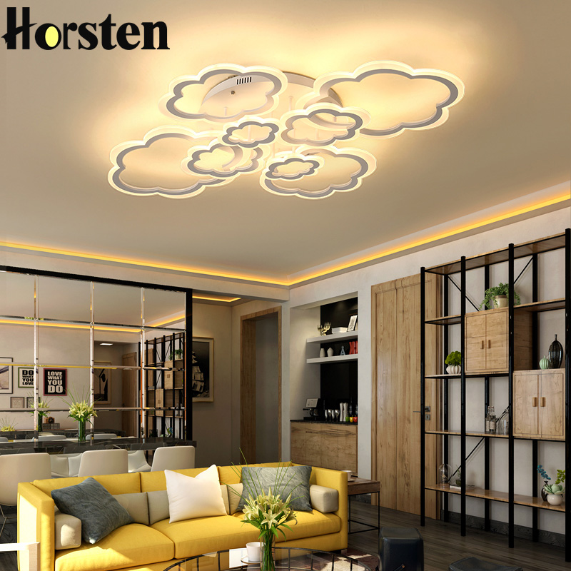 Horsten White Clouds High Power LED Ceiling Chandelier For Living Room Bedroom Home Modern Led Chandelier
