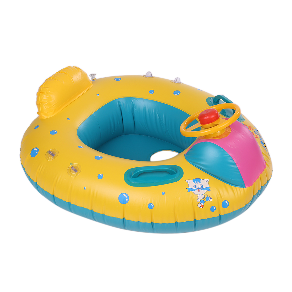 Safe Inflatable Baby Swimming Ring Pool PVC Baby Infant Swimming Float Adjustable Sunshade Seat Swimming Pool