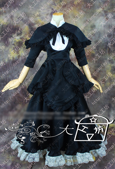 Puella Magi Madoka Magica Homura Akemi Gothic Lolita Black Dress Cosplay Costume Halloween Uniform Outfit Custom-made