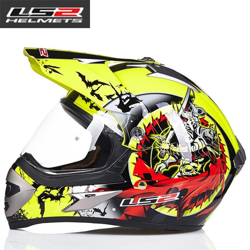 LS2 MX433 внедорожный мотоциклетный шлем с ветрозащитным щитом мотокросса шлемы костюм для мужчин и женщин одобренный ECE - Цвет: 9