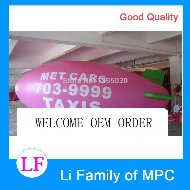 8m length Pink Inflatable Airship/ Customized Colors and logos/Inflatable Zeppelin/Blimp for Advertisement 2m inflatable tomato balloon for advertisement other vegetables and fruit shapes
