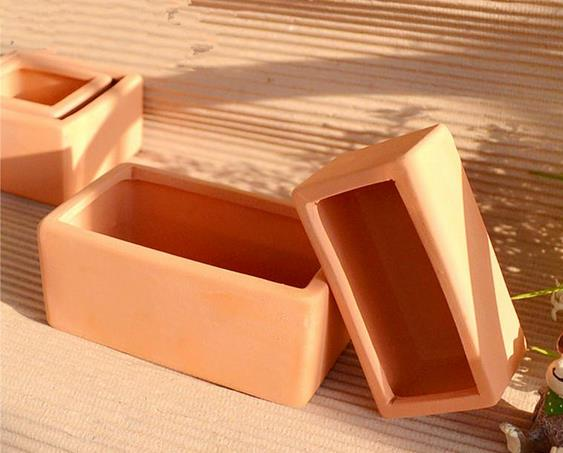 Red clay flowerpot terracotta pots square rectangular ceramic pots  terracotta tray