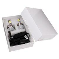 2pcs Unviersal Head Light COB All In One Car LED Headlight Headlamp Conversion Light C6 Series