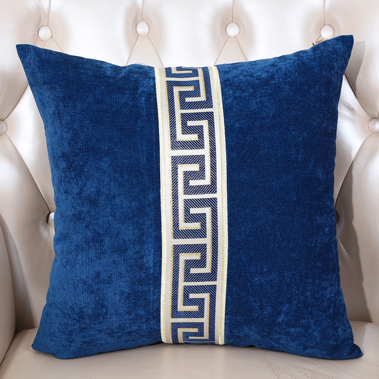 High End Patchwork Cushion Cover for Sofa Seat Chair Office Home Decor European American Style Velvet Lumbar PillowCase