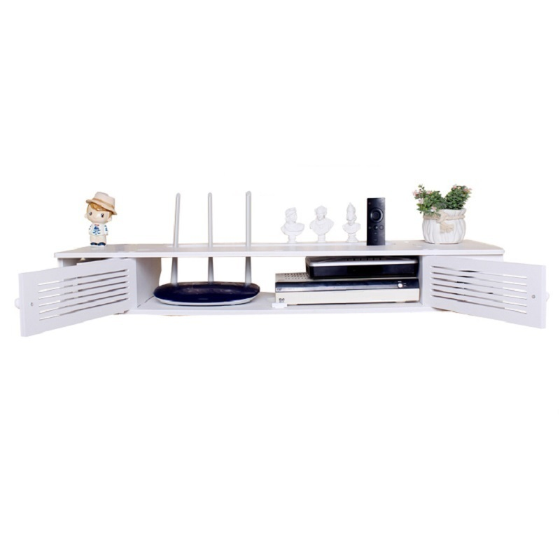 multifunctional wall hanging Europe receiving creative font b router b font storage rack hanger cabinet TV