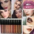 Professional Metal Lipgloss Matte Waterproof Makeup Long Lasting Pigments Gold Brown Metallic Lipstick Matte Liquid