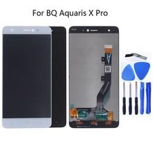 עבור BQ Aquaris X Pro מסך LCD תצוגה עבור BQ Aquaris x LCD תצוגת מסך מגע Digitizer החלפת להראות משלוח חינם