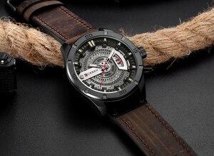Image 2 - CURREN Men กีฬาทหารนาฬิกาผู้ชายนาฬิกาควอตซ์นาฬิกาวันที่นาฬิกาผู้ชาย Casual หนังนาฬิกาข้อมือ Relogio Masculino
