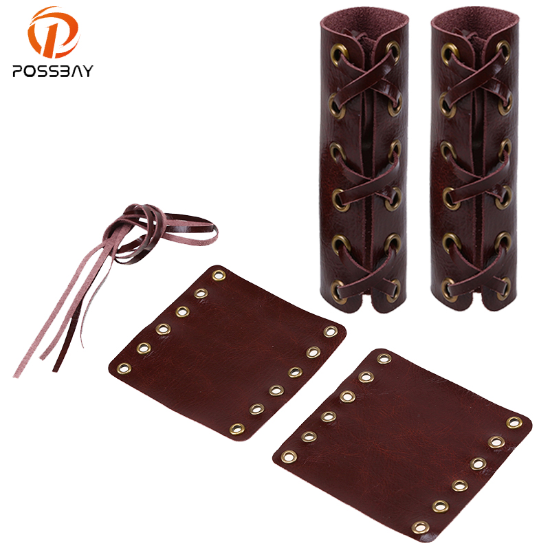 POSSBAY 4 Colors Motorcycle Handle Grips Covers Leather Hand Grip Throttle Cover Motorbike Grip For Harley Motorbike Handlebar