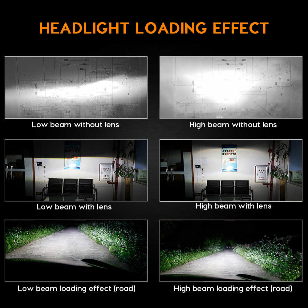 Zdatt 12000LM 4 Sides H7 Led Canbus H4 H8 H13 H11 9005 HB3 9006 3000K 6000K 8000K 100W Headlight Lamp Car Light 12V Automobiles