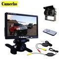 """Camecho 12 V-24 V de Visión Trasera Cámara de Reserva Sin Hilos Kit + 7 """"TFT LCD Monitor Para Camión/Furgoneta/Caravana/Trailers/Campistas"""