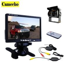 Camecho 12 В-24 В car rear view wireless backup camera kit + 7 «TFT LCD Монитор Для Автомобиля/Ван/Караван/Прицепы/Кемперы