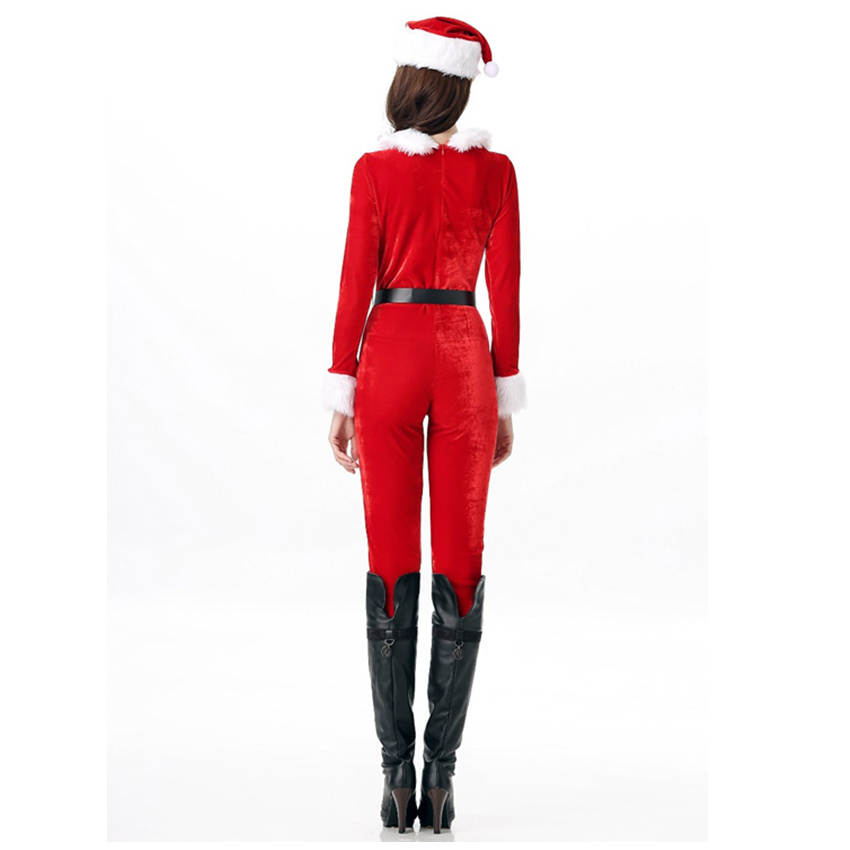 53d3428a568 TaFiY Brand New Women s Christmas Santa Costume Claus Cosplay Xmas Party  Red Jumpsuit+Hat+Belt Christmas Sexy Snowman uniform-in Holidays Costumes  from ...