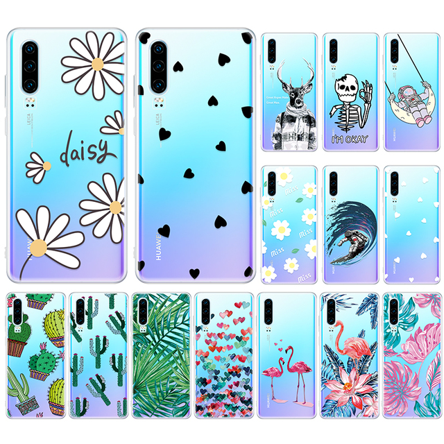 Transparent Phone Case For Huawei Mate 20 10 Lite P30 P20 Pro Silicone Back Cover Honor 8X 10 Lite Case Housing Protective Coque