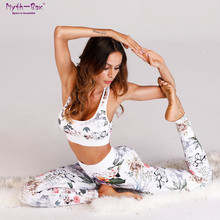 Women Yoga Sets Padded Sports Bra Leggings Fitness Clothing Gym Tracksuit Floral Print White Sport Suit Running Sweatshirts Sets tracksuit for women floral print mash patchwork 2 piece yoga set women cropped bra long pant fitness sport suit women clothing