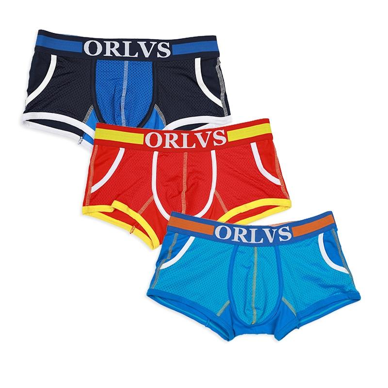 ORLVS 3Pcs Boxer Men Underwear Boxershort Men Underpants Cuecas Male Panties Boxer Homme Penis Calzonas Hombre Tmall OR114