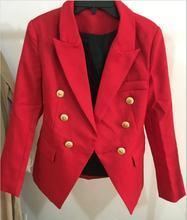 Европейский станция Новинка 2017 Весна женская новая модель драпировки золотой пряжкой тонкий пиджак же звезда одежда Q12