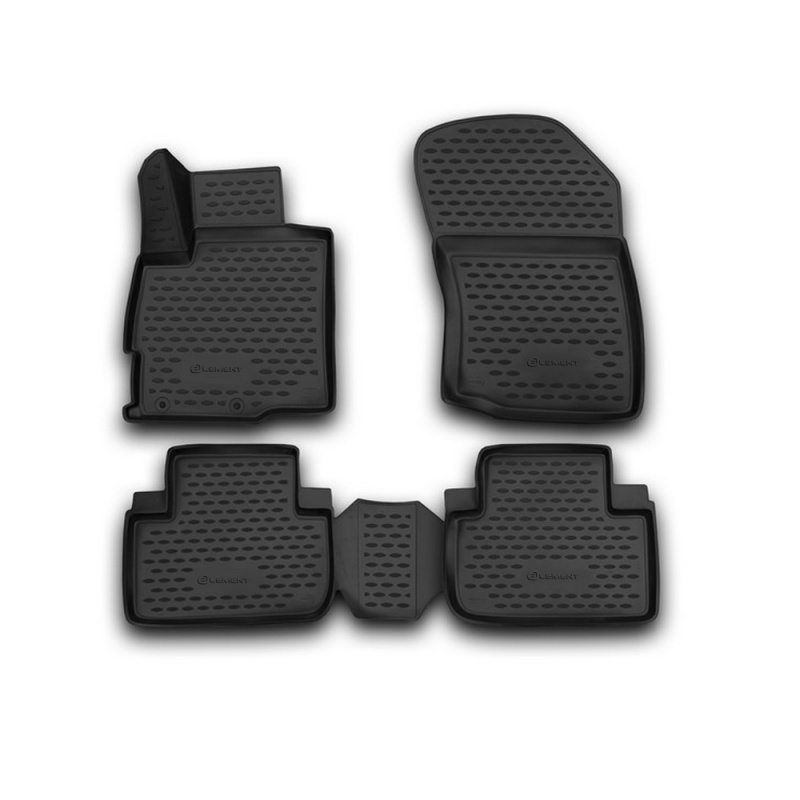 Car Mats 3D salon For MITSUBISHI Outlander, 2012-2015, 2015->, 2 WD, 4 PCs (polyurethane) vland car head lamp for sonata led headlight 2012 2015 with angel eyes hid h7 bi xenon plug and play