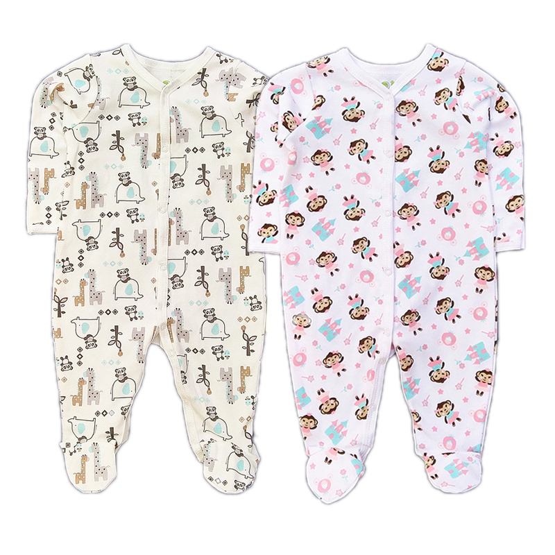 Newborn Baby Clothes Boy/Girl Romper Long Sleeve Cotton Anti-Scratch Unisex Cartoon Animals New baby Rompers Infant Clothing new 2017 panda cute baby boy romper long sleeve cotton jumpsuit baby cartoon printed rompers newborn baby boy girl clothes white