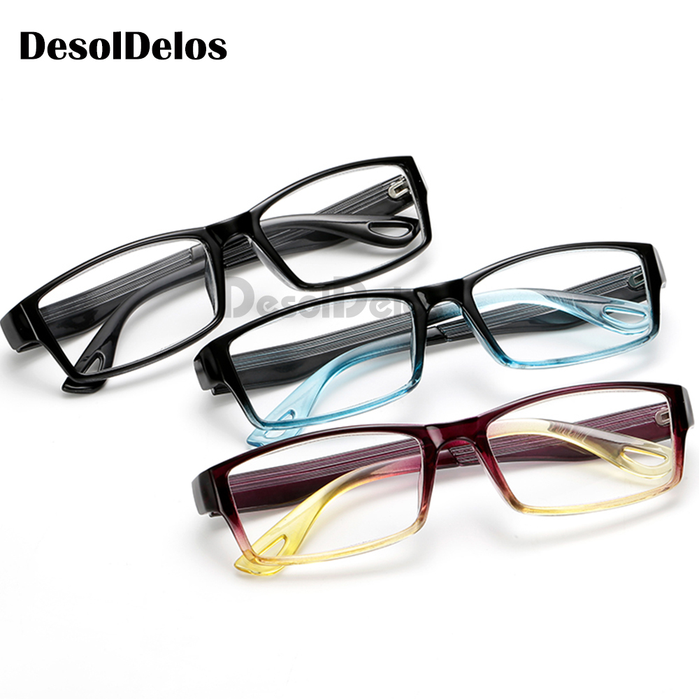 Fashion Unbreakable Reading Glasses Women Men Resin Transparent Spectacles Vintage Round Reading-glasses