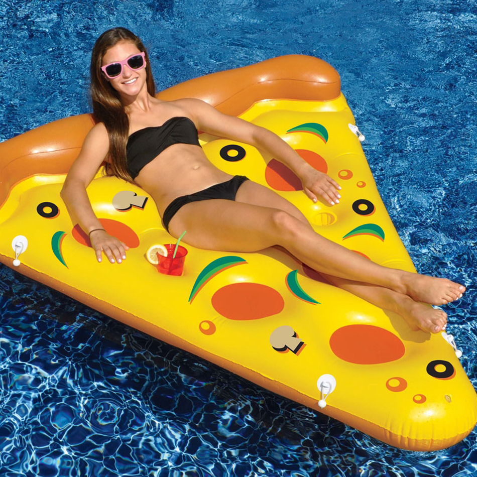 Jusenda Giant Inflatable Slice Pizza Pool Float Rafts For Adult Swimming Mattress Party Pool Games Toys Water Bed Boia Piscina 200cm giant champagne bottle inflatable pool float ride on swimming ring for adult water party toys air mattress boia ha014