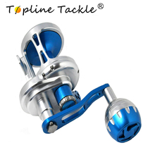 купить Topline Saltwater Fishing trolling Reel TC 100-500 6.3:1 Ratio Sea Boat Max Drag 25-30kg Jigging Reel дешево