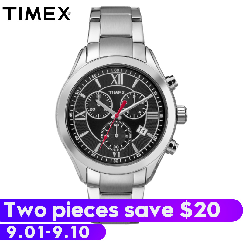 2018 Real Limited For Timex Original Mens Watches Indiglo Tw2p939 Miami Chronograph Steel Quartz Waterproof Multifuction Watch