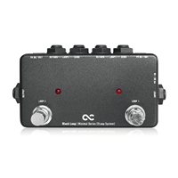 One Control Black Guitar Effect Pedal True Bypass Line Selector Switching DC Outs Loop 2