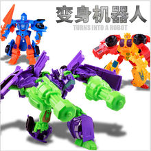 Educational DIY Cartoon Transformation Kids Classic Robot Model Cars Toys For Children Action & Toy Figures Gift