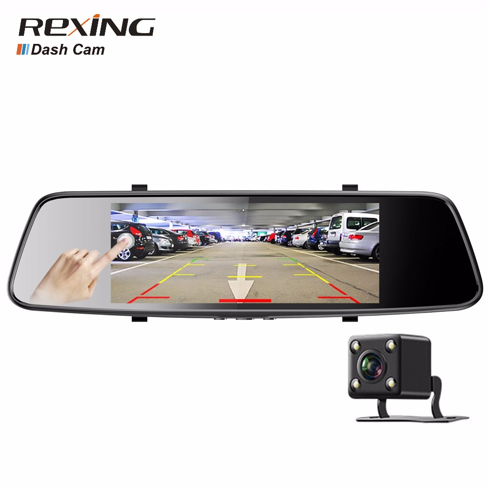 Rexing  D700 Car Dvr Touch Screen Backup Camera Dash Cam Front and Rear Dual Channel with Rear View Reversing Camera intelligent quad channel car camera video recorder dvr for rear front side view camera four split screen with remote controller