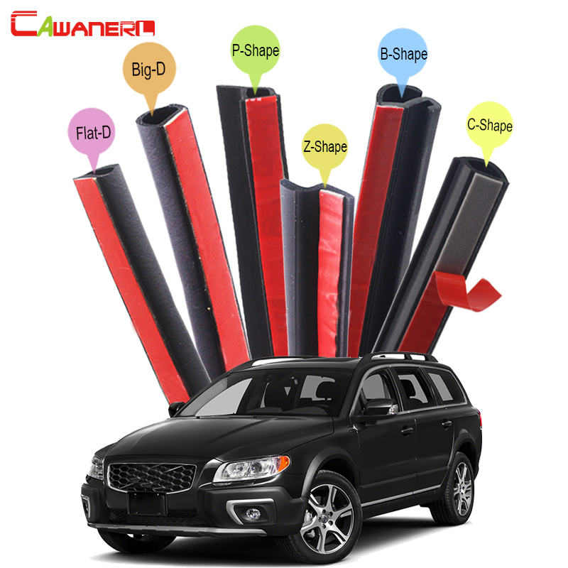 Cawanerl Car Rubber Seal Strip Kit Sound Control Dustproof Seal Edge Trim Weatherstrip Self-Adhesive For Volvo XC60 XC70 XC90 cawanerl car rubber seal strip kit sound control dustproof seal edge trim weatherstrip self adhesive for volvo xc60 xc70 xc90