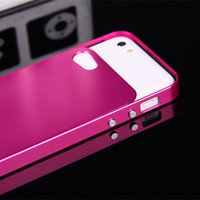 Luphie Fundas For IPhone5C Hard Aluminum Alloy Frame Metal Back Cover Case For Apple IPhone 5C