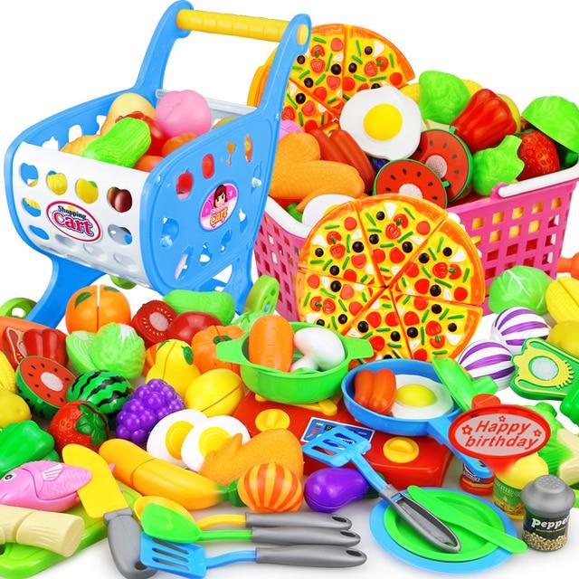 12 23 adet çocuk mutfak oyna Pretend oyuncaklar kesme meyve sebze gıda minyatür Play yapmak ev eğitim oyuncak hediye kız çocuk için
